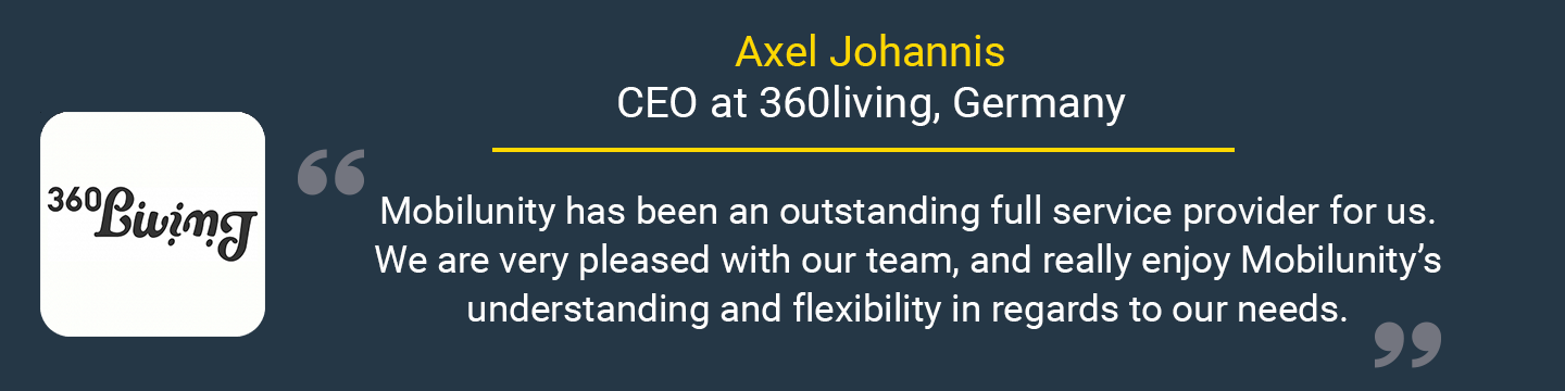 customer's quote about Mobilunity
