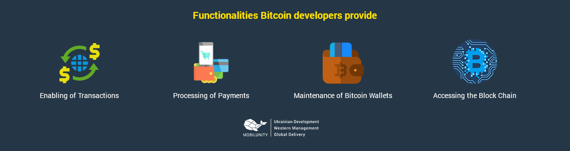 functionalities of bitcoin developers