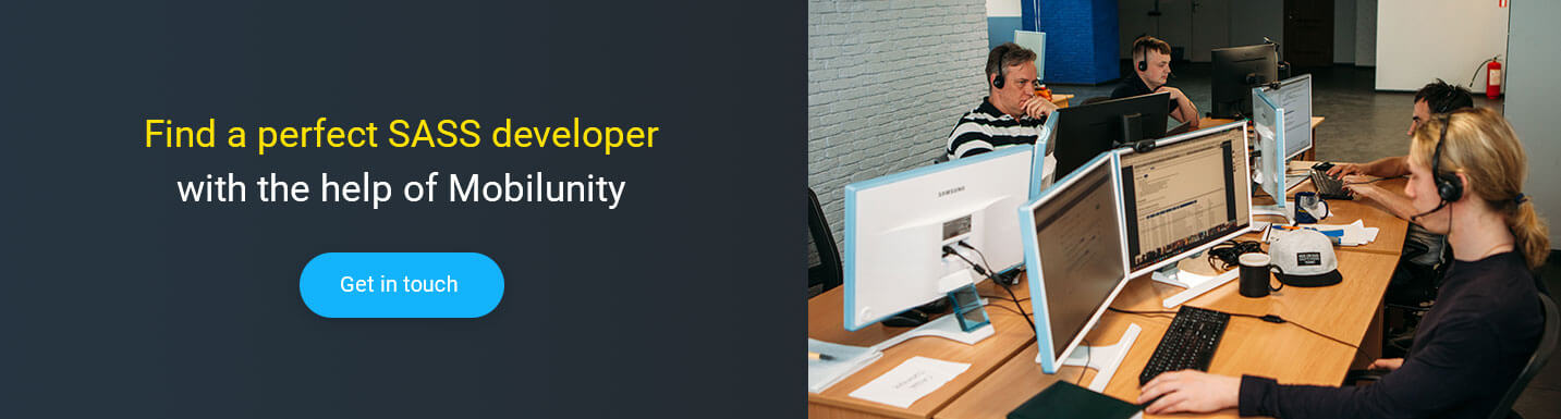 hire sass developer at Mobilunity