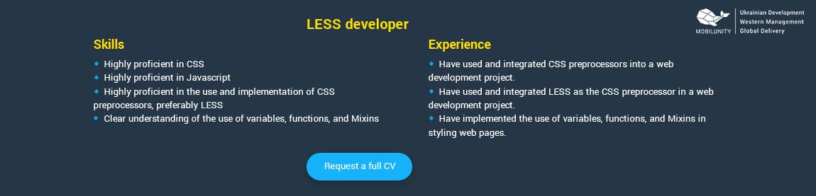 less programmer resume sample