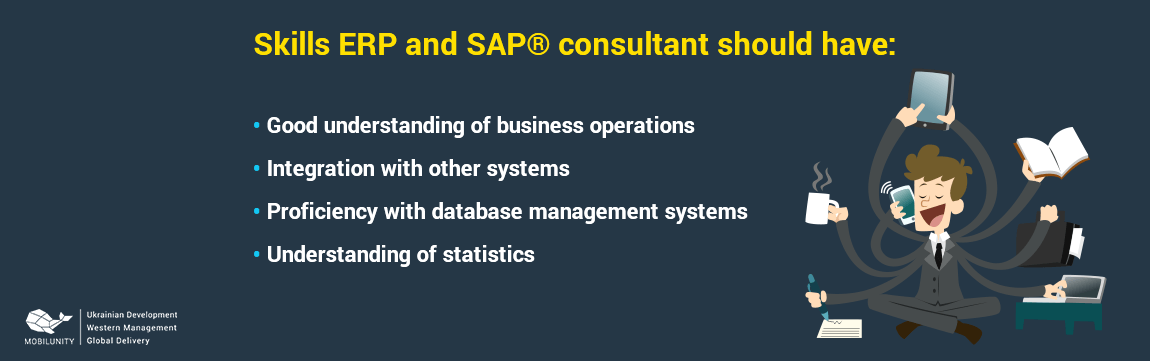 skill set of sap and erp developers