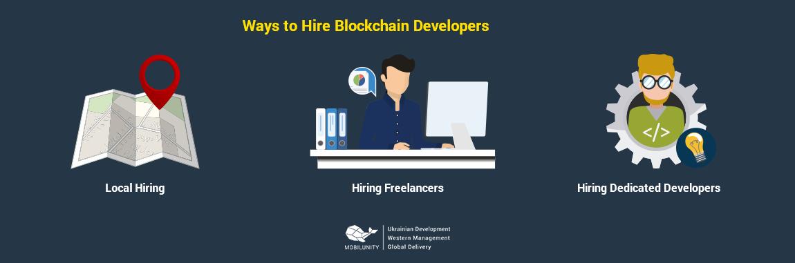 ways of hiring blockchain developers
