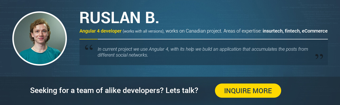 Angular 4 developer