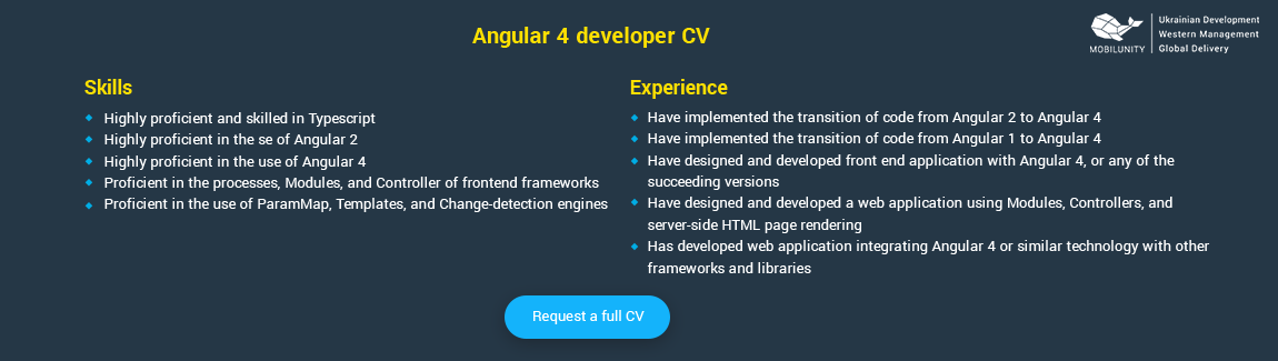 Angular 4 Developer Resume Sample  Angularjs Resume