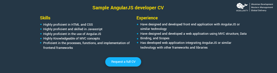 angularjs developer resume sample - Angularjs Developer Resume