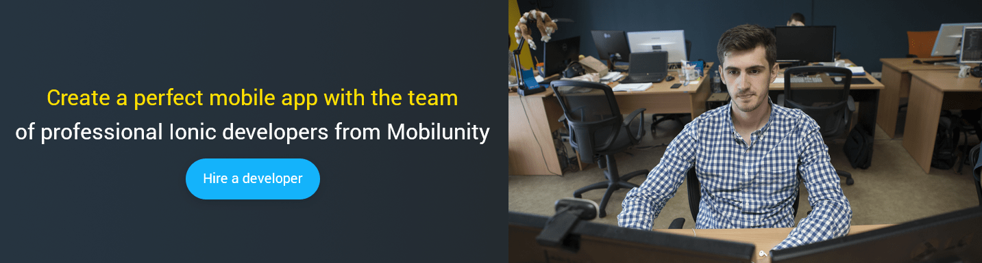 hire ionic developer at mobilunity