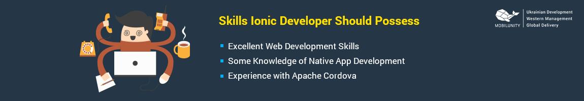 ionic developer skills