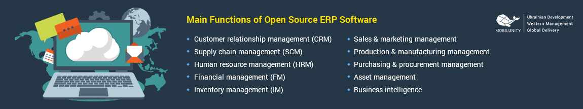 main functions of erp developer