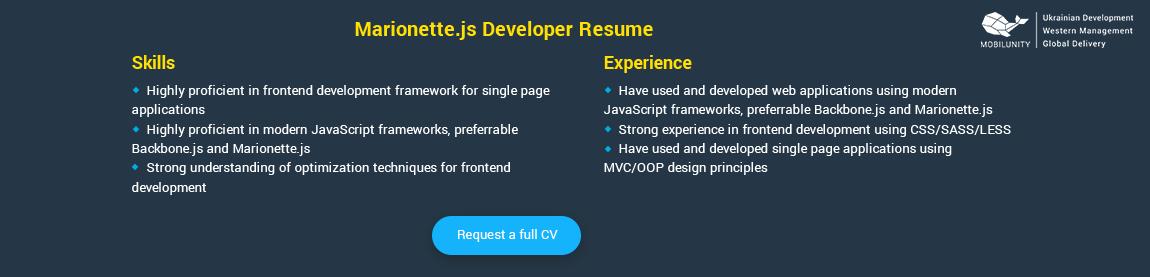 marionettejs coder resume