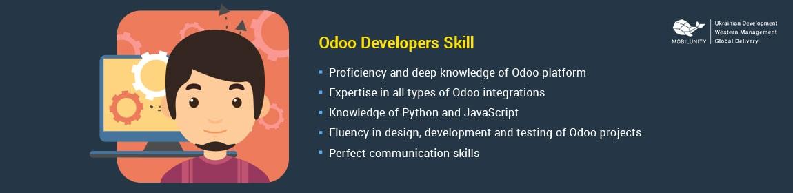 odoo website developer should have