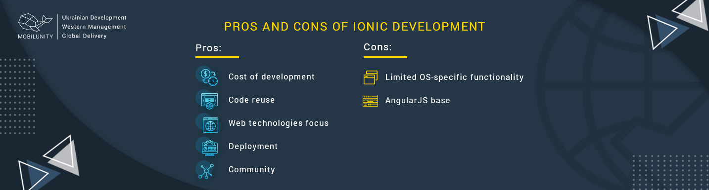 pros and cons ionic team can bump into