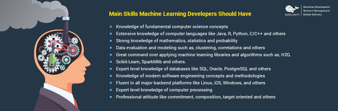 skills machine learning specialist should have