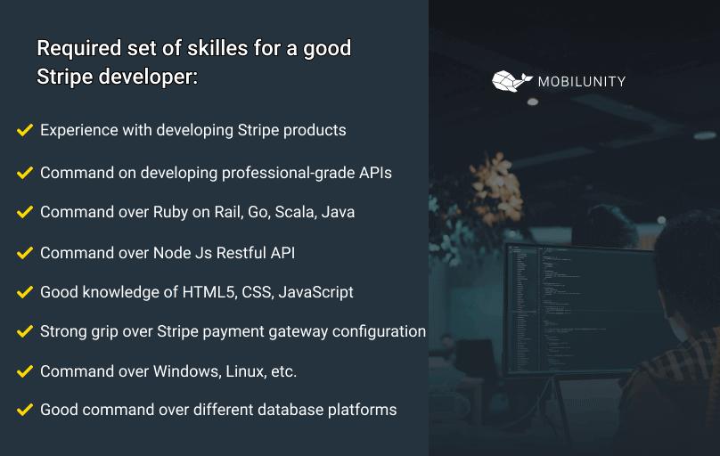 skillset of a stripe developer