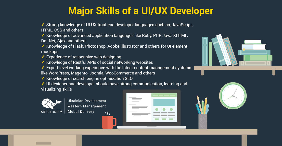 Major Skills of a UI UX developer