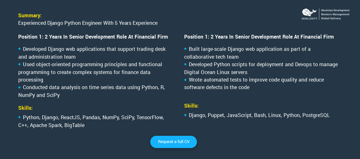 python django developer salary  u0026 resume