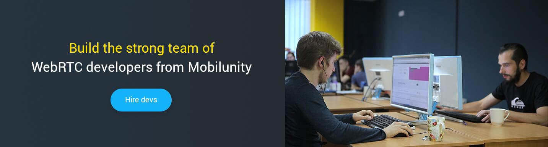 hire webrtc developer at Mobilunity