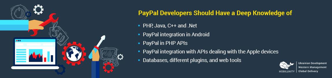 paypal developer skills