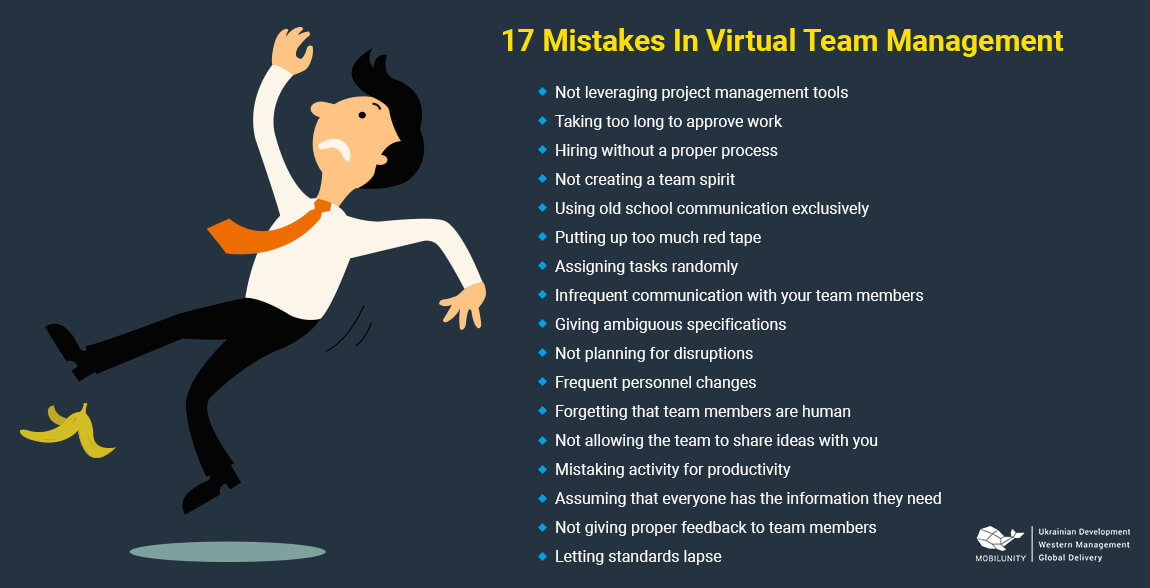 17 mistakes to avoid managing remote teams
