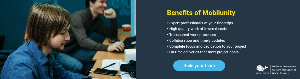 benefits of hiring dedicated development team at mobilunity