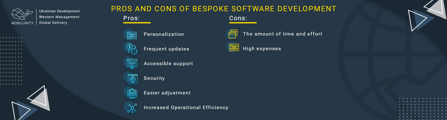 bespoke software advantages and disadvantages