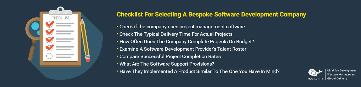 checklist to choose the best bespoke software development company