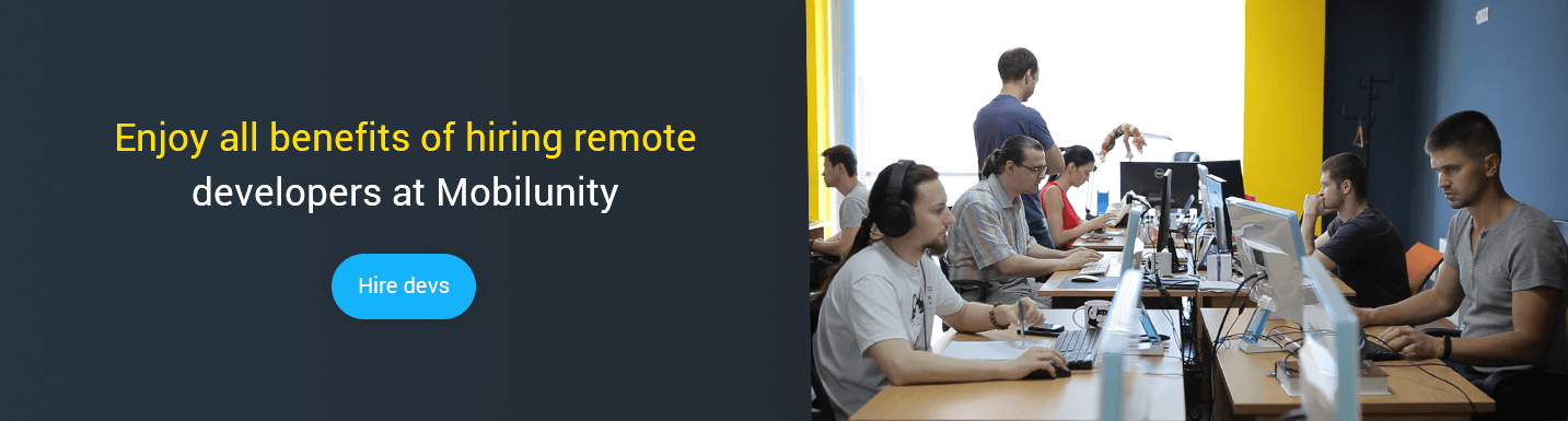 hire remote development team at Mobilunity