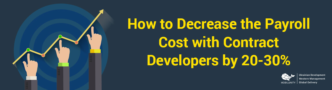 save cost with contract developer