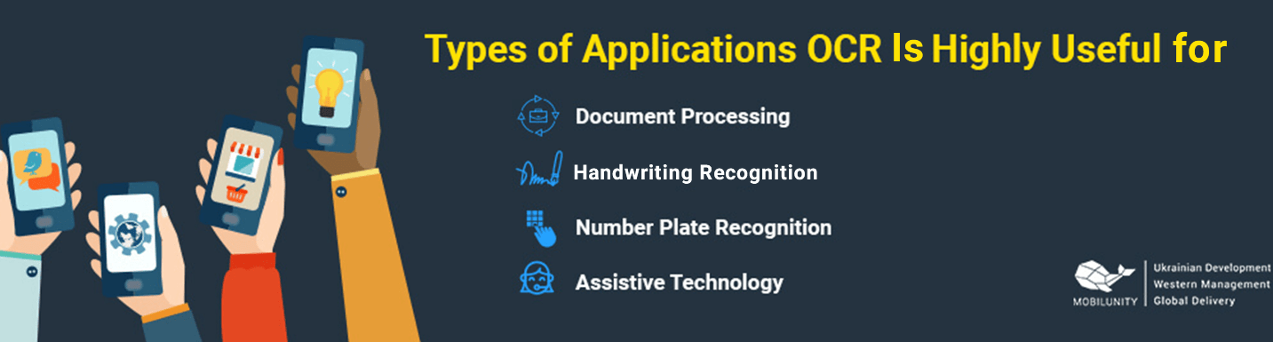 types of applications for ocr development