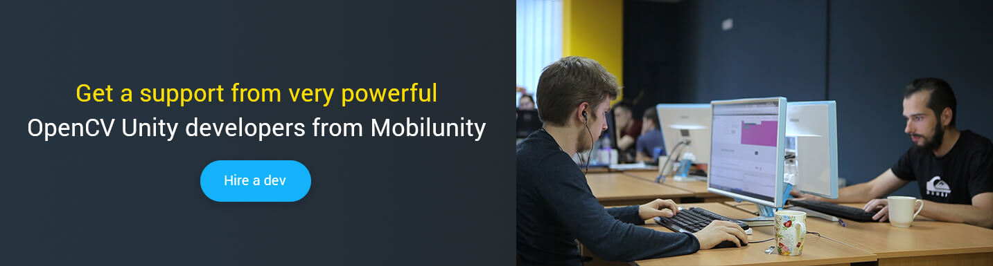 hire opencv unity developers at Mobilunity