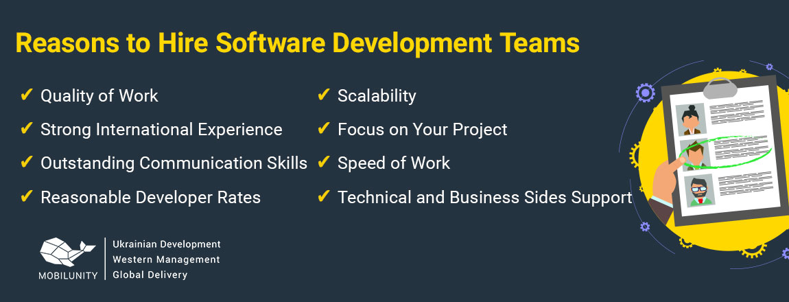 reasons to hire software development teams