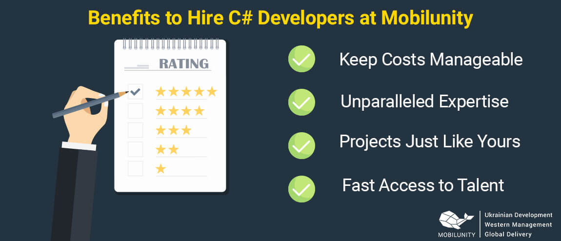 benefits to hire c# programmer