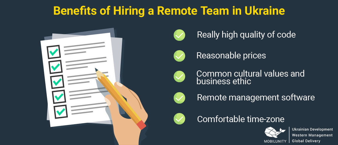 reasons to hire remote developers in Ukraine
