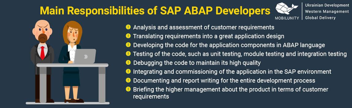 abap programming main responsibilities