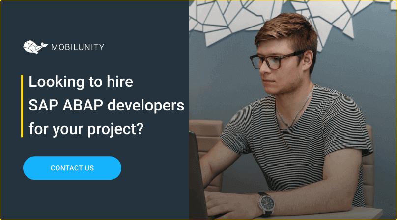 hire sap abap developer at mobilunity