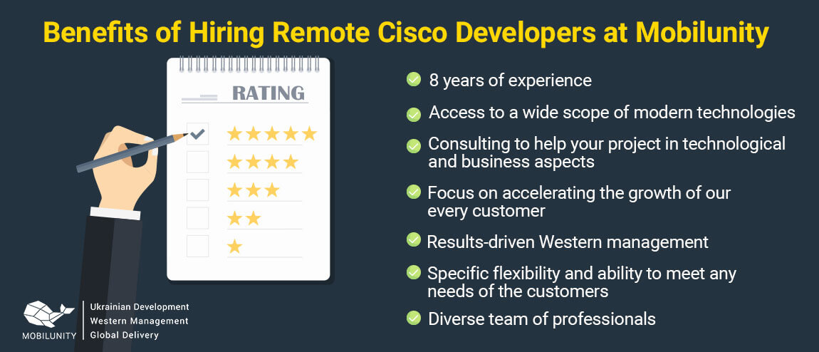 reasons to hire a cisco developer at Mobilunity