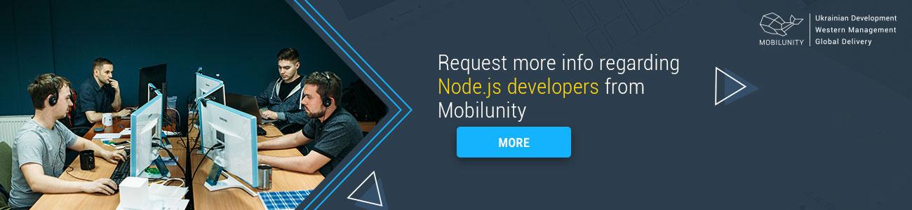 request node js developer resume