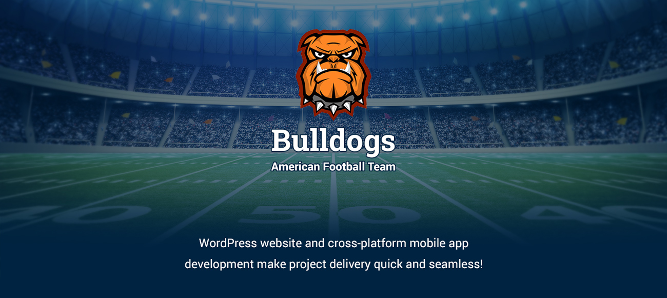 American-football-team-website-and-mobile-app-design