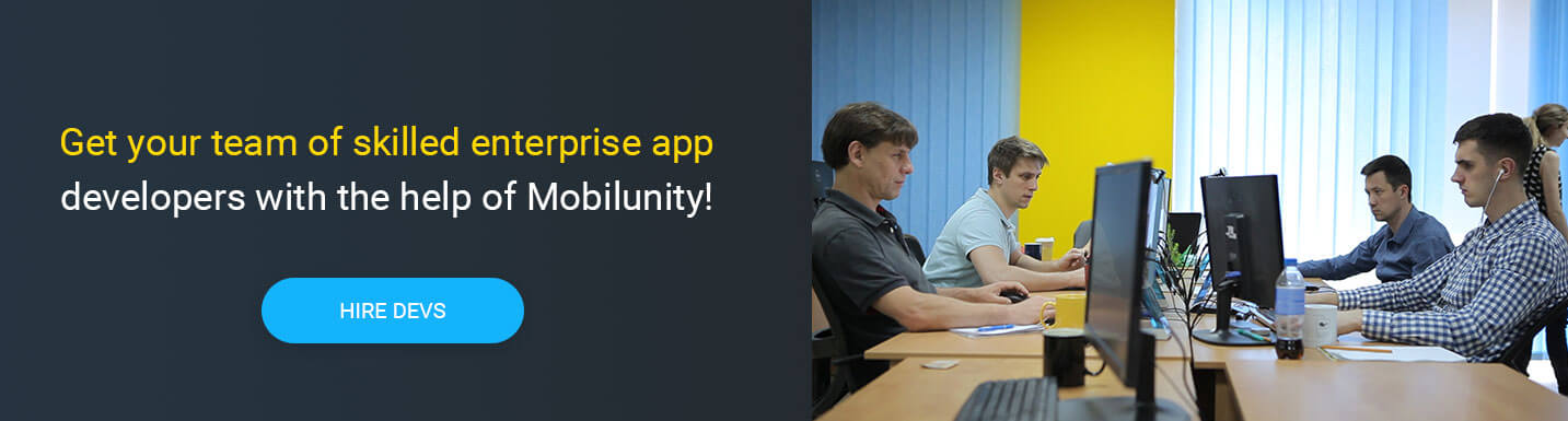 hire enterprise app developers at Mobilunity