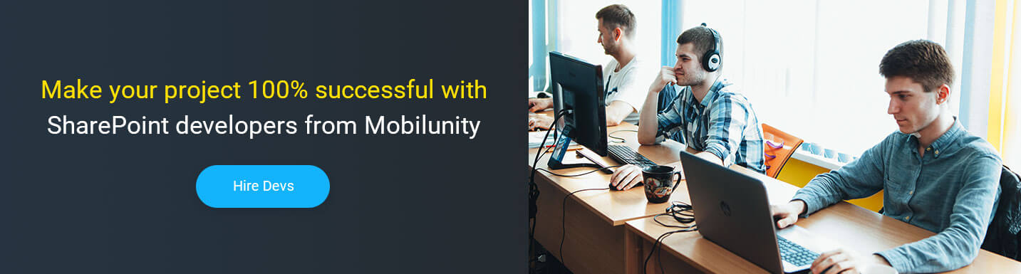 hire sharepoint developers at Mobilunity