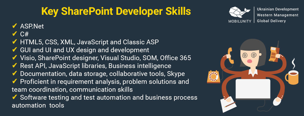 main sharepoint developer skills