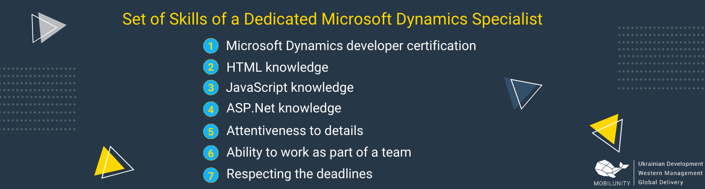 microsoft developer specialist required skills