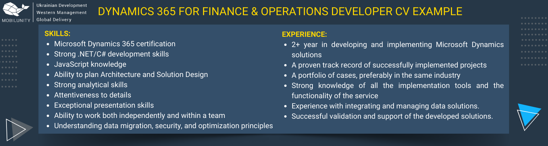 microsoft dynamics ax developer resume example
