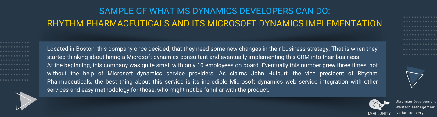 microsoft dynamics developers project example