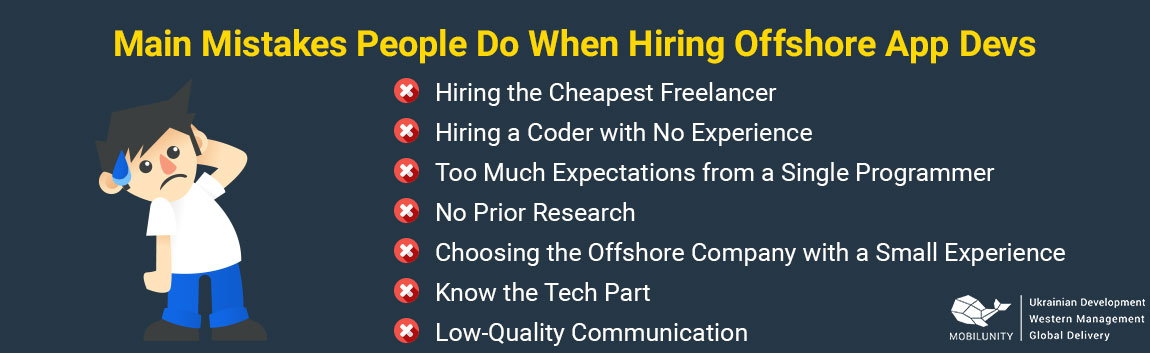 mistakes of hiring offshore application development