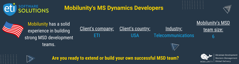 mobilunity has built dedicated MSD teams