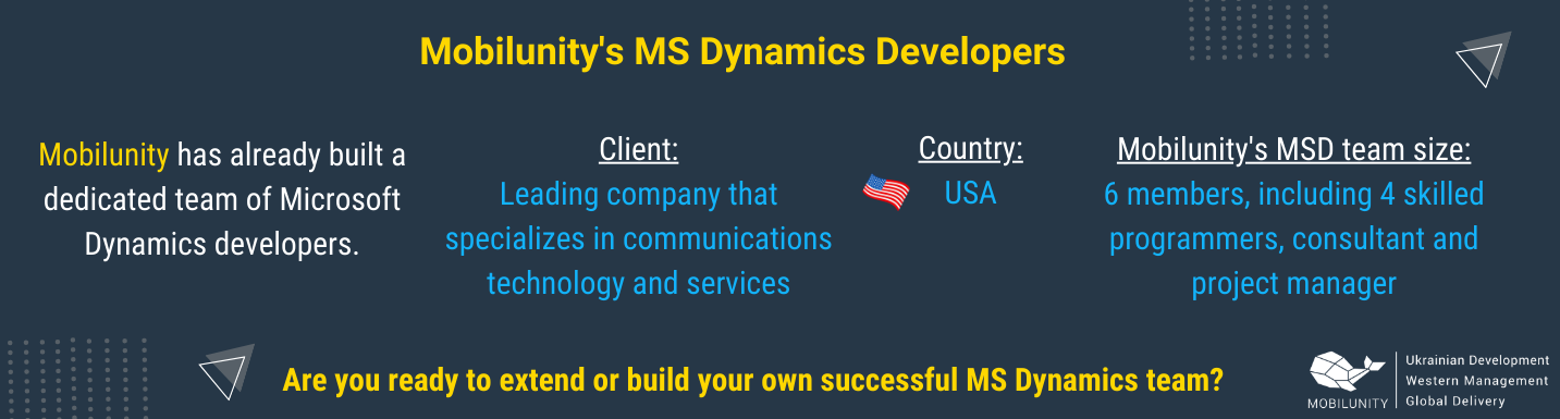 mobilunity successful experience in building teams of dedicated ms dynamics developers