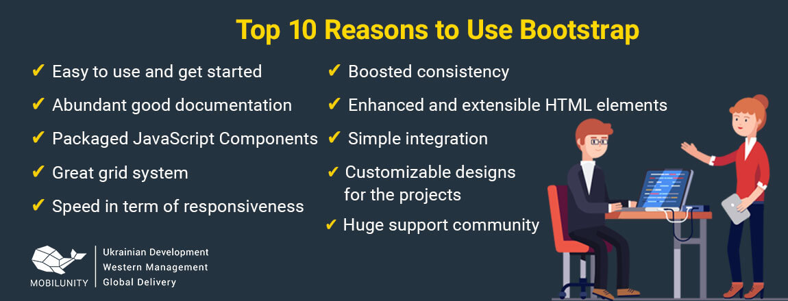 reasons to use bootstrap development