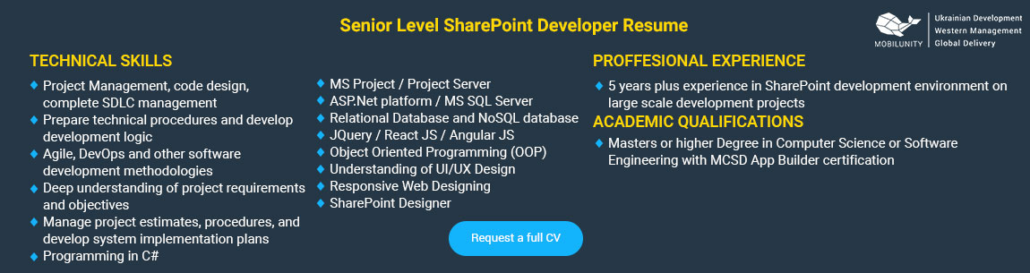 fresh sharepoint developer resume sample charming examples for net
