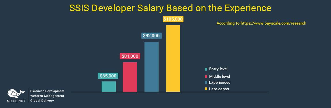 ssis developer salary depending on the level