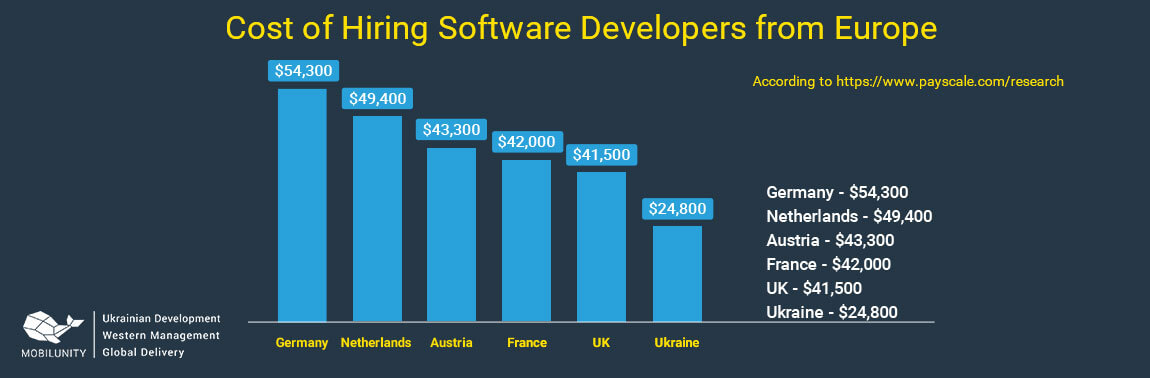 cost of custom european software development